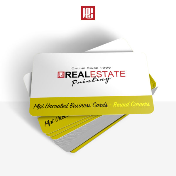 14pt Uncoated Business Cards with Rounded Corners