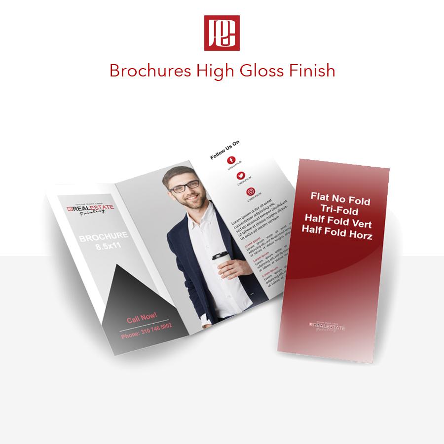 Tri-Fold Glossy Brochures