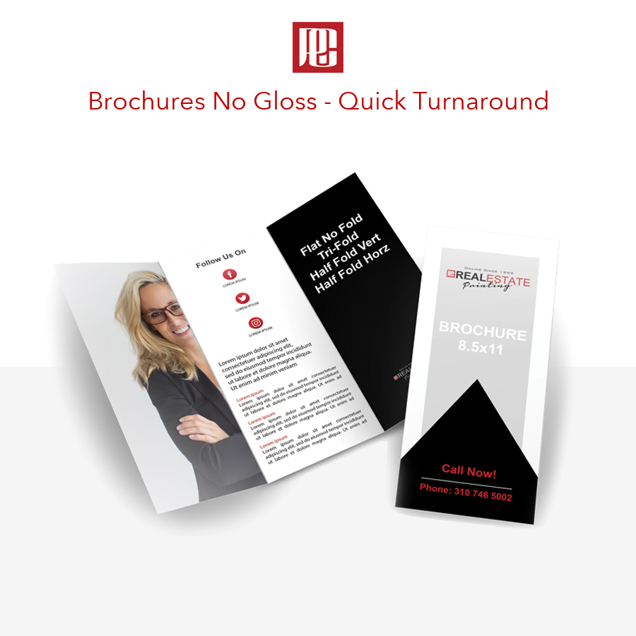 Tri-Fold Brochures - No Coating