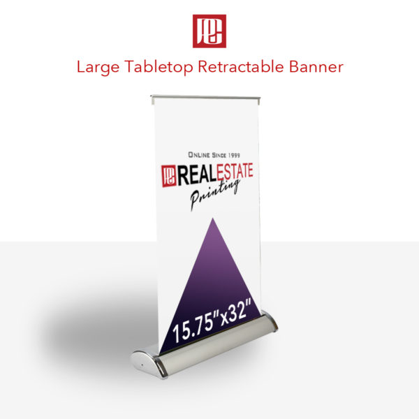 Large Table Top Retractable Banner
