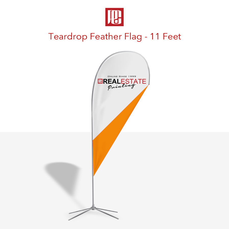 11 Foot Tear Drop Flag