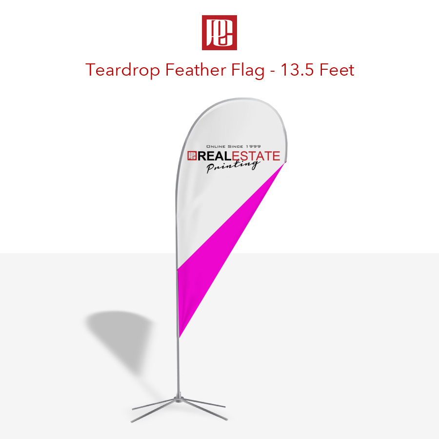 13.5 Foot Tear Drop Flag