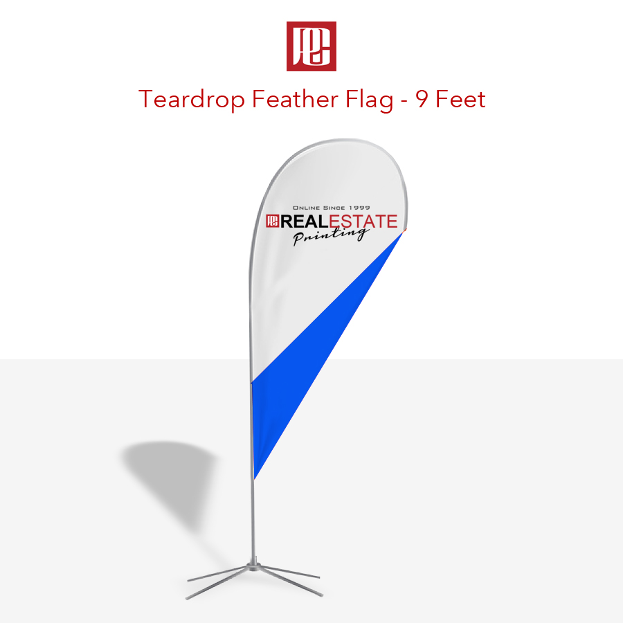 9 Foot Tear Drop Feather Flag